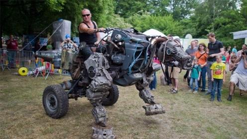 """老外打造""""机械恐龙"""",边跑边喷火,回头率100%"""