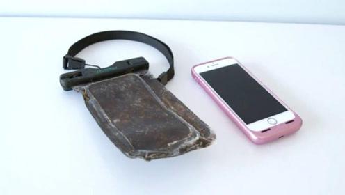 男子河中潜水捞上苹果手机 防水袋一年未坏还能正常开机