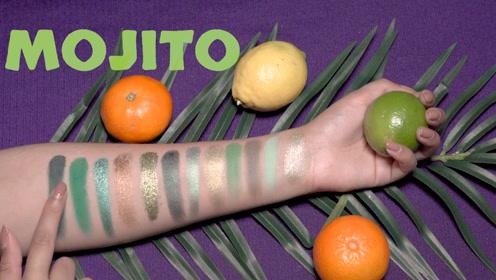 没想到绿色系眼影盘这么好看,打造出的妆容清新亮丽,超美!