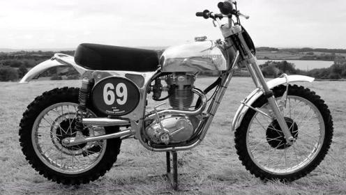 英国古典老车代表作品BSA三枪摩托车VMW风格老越野