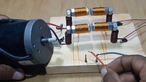 老师傅,闲来没事在家自己制作电磁开关,材料非常简单你也能做