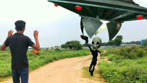 小伙竟遇到了外星人?一言不合就开枪,没想到危险在后面呢!