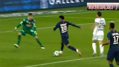 内马尔大罗式过掉门将破门,大巴黎球迷沸腾了