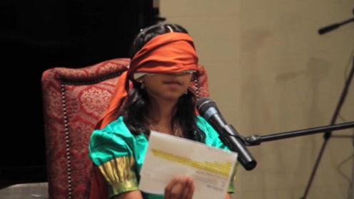 """印度女孩拥有""""第三只眼"""",能看到别人看不到的,被奉为神灵"""