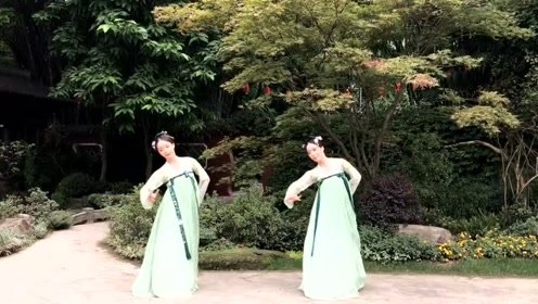 古风舞《不谓侠》,被穿上汉服的双胞姐妹舞出不一样意境!