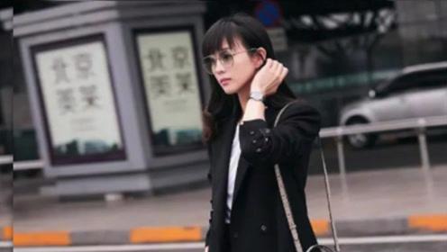张钧甯齐刘海扮嫩 西装外套配马丁靴 37岁穿出18岁少女感
