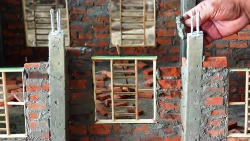 牛人搭建一个微型建筑,施工专业极了,看得我拍手叫好
