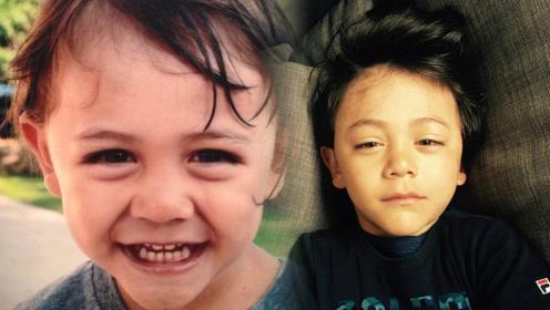 刘烨为9岁儿子诺一庆生,混血儿特征越发明显,帅气中带着忧郁