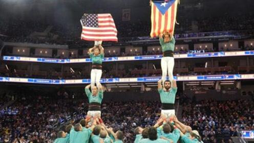 NBA默许加泰罗尼亚独立旗帜入场?西班牙网友:侮辱!挑衅!