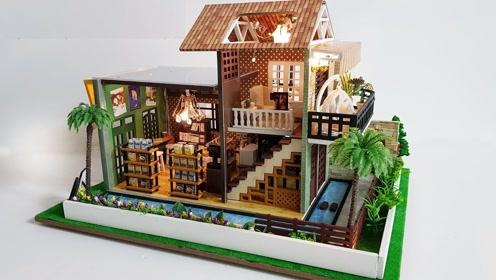 趣味微型制作 搭建漂亮的小别墅