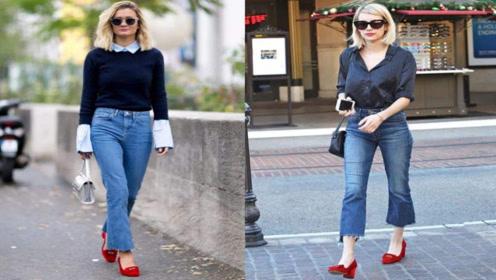 时尚穿搭,穿高跟鞋搭配,给人成熟优雅的气质!