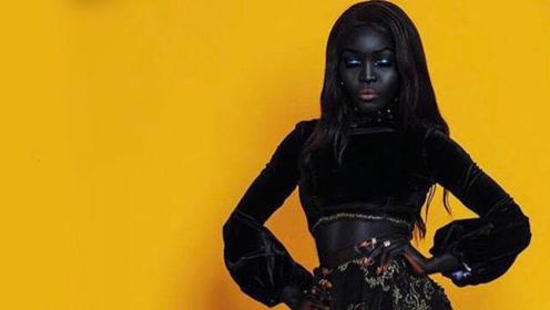 世界上最黑的模特,却没有因为肤色影响颜值,网友:完美身材