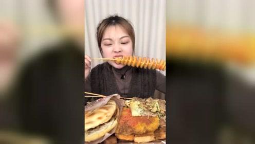 美食吃播:炸土豆片,撒点孜然简直美味
