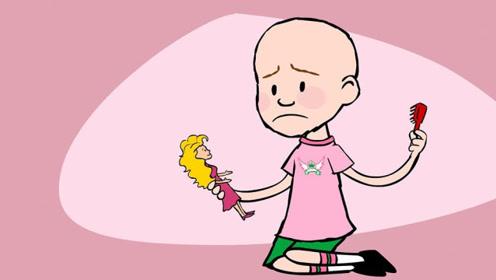 光头女孩被同学嘲笑,结果班里传染头虱,集体剃发变光头!