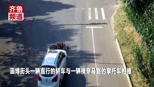 无牌摩托撞上小轿车,驾驶员为躲追查,藏在衣柜里不出来了