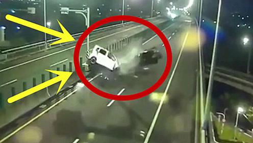 瘆人!这司机当真是逆天了,监控拍下这惊魂5秒!
