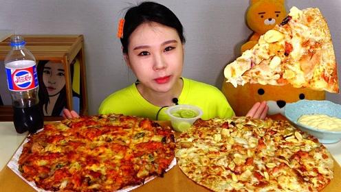 品尝美食:吃美味披萨