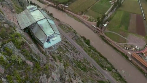悬崖壁上酒店,感觉一不小心就会掉下去,这酒店你敢住吗?