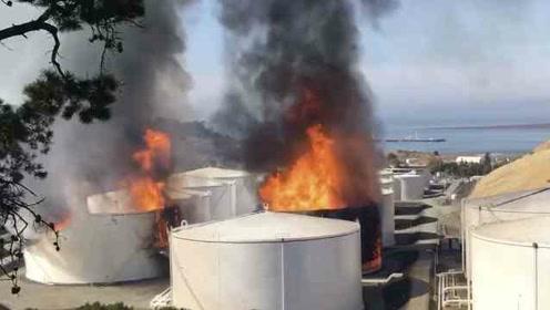 火焰冲天!美国炼油厂储油罐爆炸,发生大火