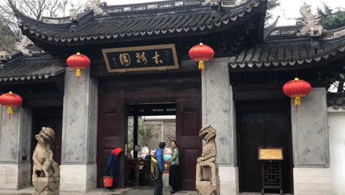 """上海一景区石狮子太""""瘦弱"""":表情诙谐,毫无威武气势?"""