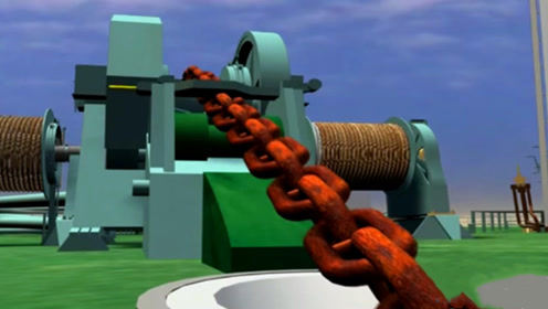 3D动画还原,万吨巨轮锚定是如何下水的?太直观了!