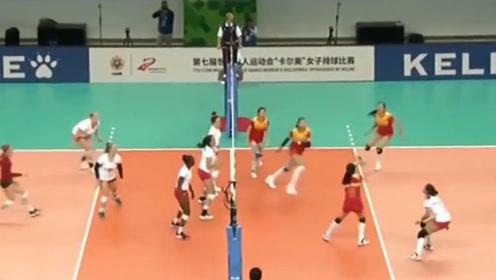 毫无压力!世界军运会八一女排3:0轻松战胜美国