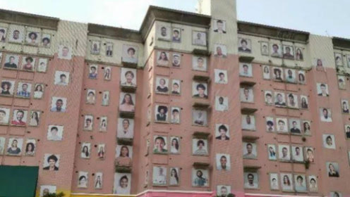 百人微笑,却背后频频冒出冷汗!深圳这栋楼究竟是艺术还是恐怖片?