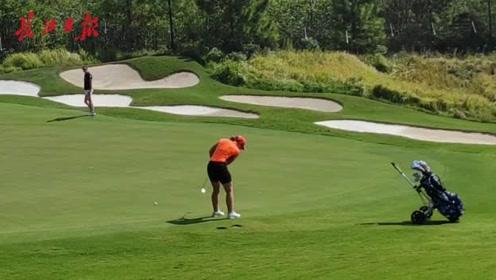 军运会女子高尔夫比赛开杆