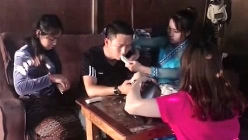 老哥在缅甸生活多年娶到三个老婆,看到这一幕,明白了家庭地位!