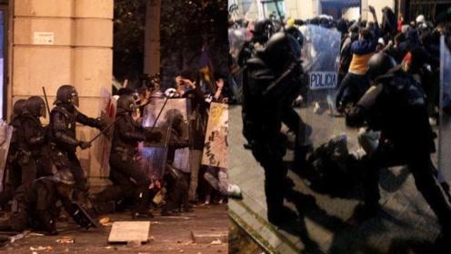 无耻!西班牙警方暴力清场 西方媒体集体沉默:BBC仍在报道香港