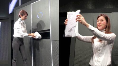 懒人的福利来了!这款衣柜可自动折叠衣服,看完演示过程惊呆了