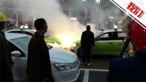 四川一司机砍伤的哥逃跑 被多辆出租车包围场面火爆