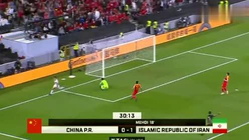 亚洲杯-阿兹蒙单刀破门,国足0-2落后伊朗