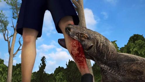 人被科莫多巨蜥咬一口,后果会有多严重?看看这块肉的下场