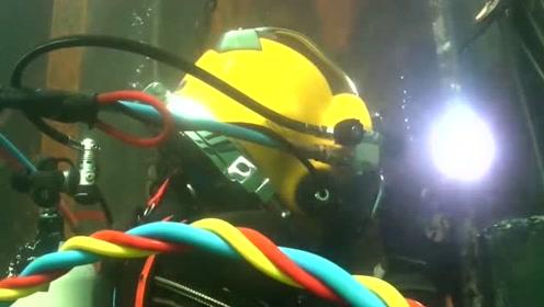 原来水下也能进行电焊?长知识啦!
