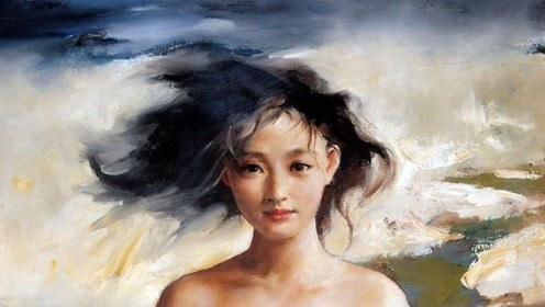 周迅早年人体模特画曝光,年仅18岁气质淡雅,如今一幅卖184万