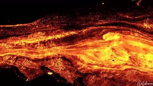 航拍皮顿·德拉·富尔纳瓦火山