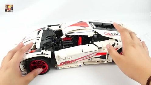 积木车大改造:可遥控的科技组兰博基尼,能挑战直角弯吗?