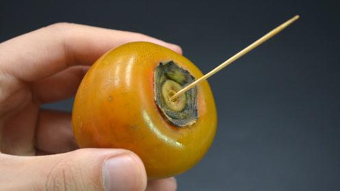 柿子上面插一根牙签真厉害,好多人还不懂咋回事,看完涨知识了