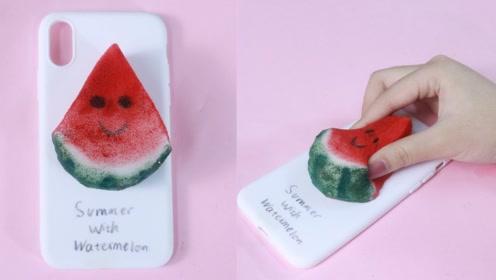 【DIY手机壳】海绵西瓜手机壳,真是又可爱又好玩
