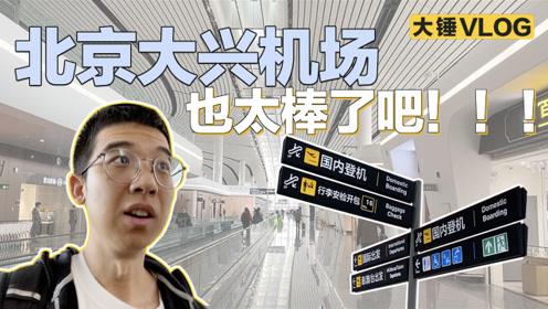 【大锤VLOG】北京大兴机场也太棒了吧!!!