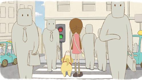 小奶狗立志做只导盲犬,然后通过自己不懈的努力,最终实现梦想