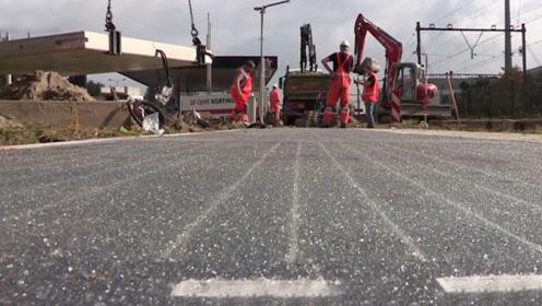 """塑料垃圾逆袭了,在荷兰被用作建公路的材料,找到""""最好的归宿"""""""