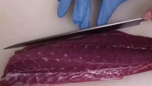 极品鱼刺身,这刀功和摆盘都无可挑剔