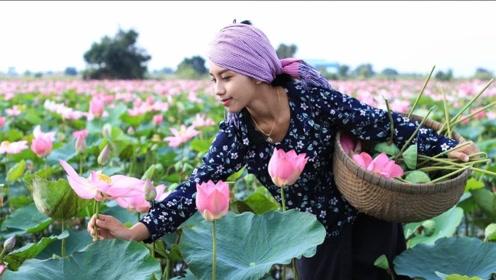 泰国美女模仿李子柒,画风学得十分到位,一经播出就成外国网红