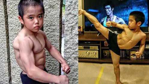 日本8岁男孩痴迷武术,模仿中国李小龙,被称李小龙在世?