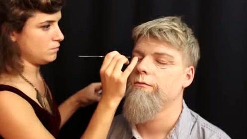 有点好奇自己80岁时的样子?看看这特效化妆就懂了!