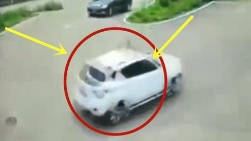 黑色小车刚上盘山公路,下一秒疯狂倒车,只为躲避马路杀手!