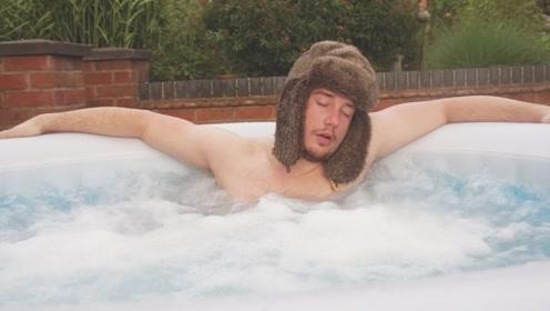 堪称最无聊的实验,小伙势要在水池里泡12小时,连亲爹都不放过