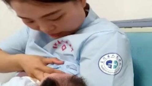 最美临时妈妈!父母车祸婴儿饿得直哭,护士解衣喂奶宝宝立马安静